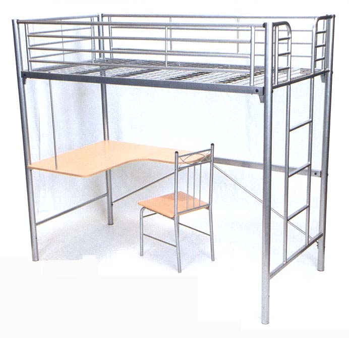 black metal loft bed with desk iron metal beds